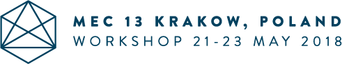 MEC 13 Krakow Poland - workshop 21-21 May 2018 logo